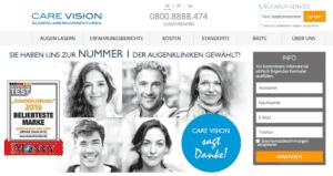 Care Vision Website