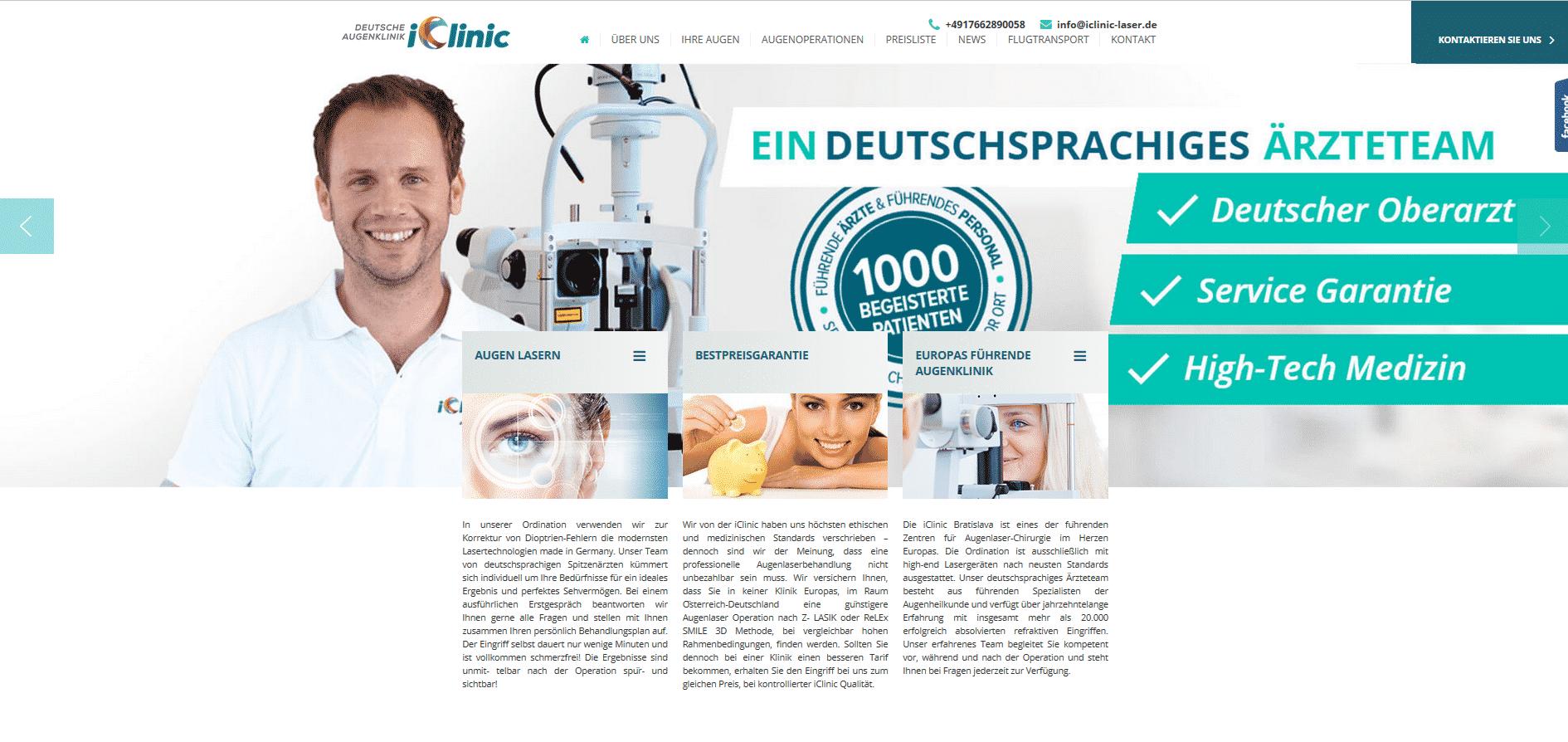 iClinic Bratislava: Erfahrung mit Kosten beim Augenlasern mit iClinic